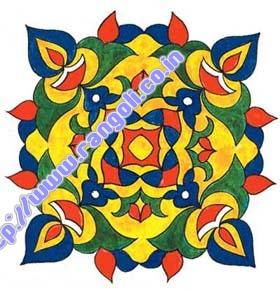Latest Rangoli Design Pattern