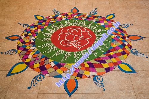 Sankranti Rangoli Pattern
