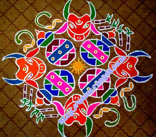 beautiful kolam design pattern