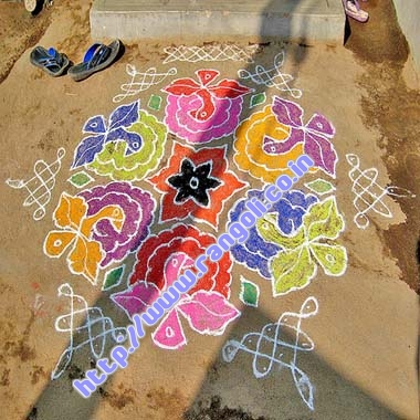 Simple Beautiful Rangoli