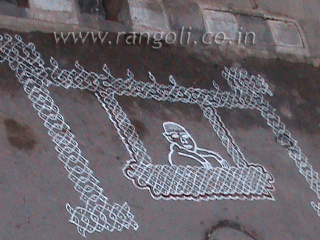 Kolam Design on Theme of Baby Shower | Rangoli Designs