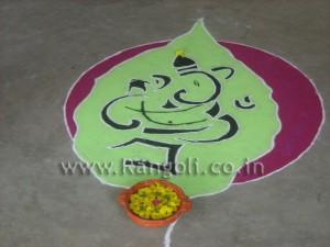 Ganesha Rangoli Design