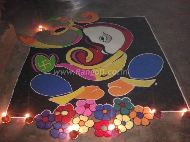 Rangoli Designs For Diwali | Ganesha Chaturthi Special Rangoli