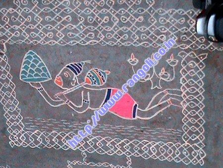 hanuman temple kolam