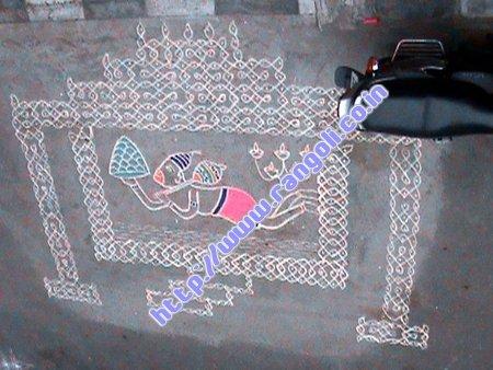 hanuman Jayanti kolam
