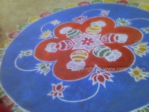 Lotus Flowers Rangoli
