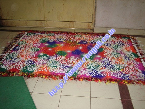rangoli like a carpet